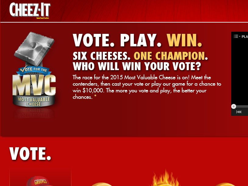 The Cheez-It MVC Sweepstakes