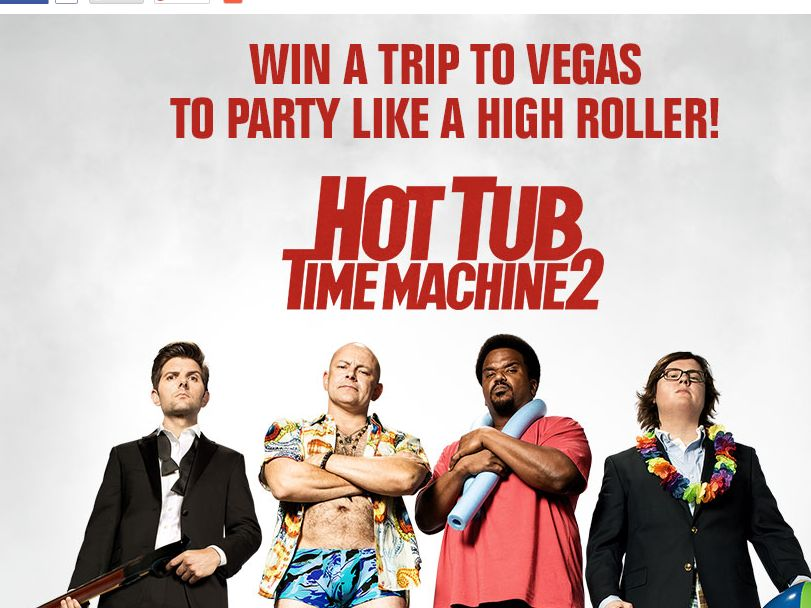iHeartRadio Hot Tub Time Machine 2 High Roller Sweepstakes