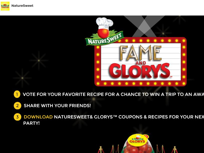 "NatureSweet ""Fame and Glorys"" Sweepstakes"