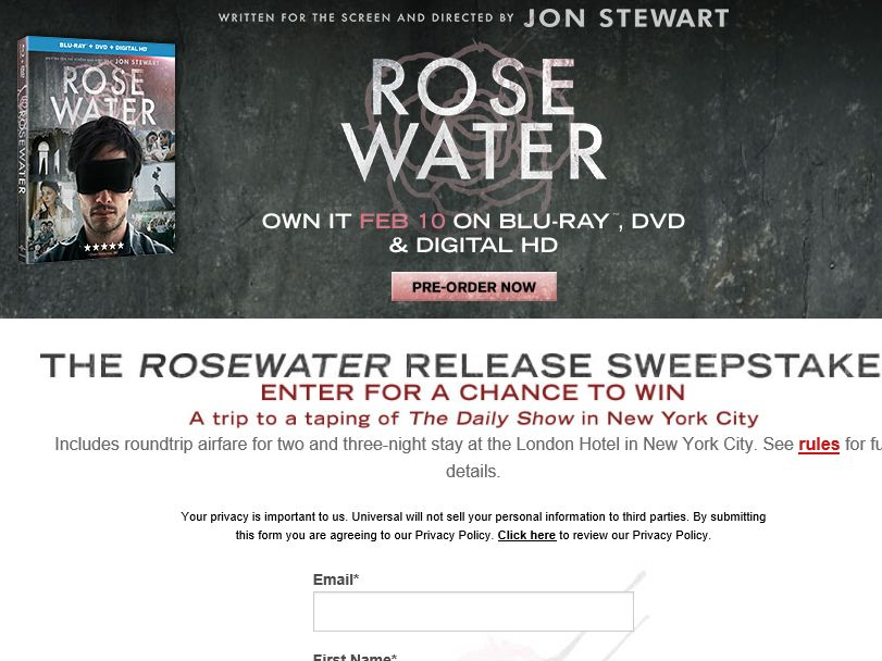 The ROSEWATER Sweepstakes