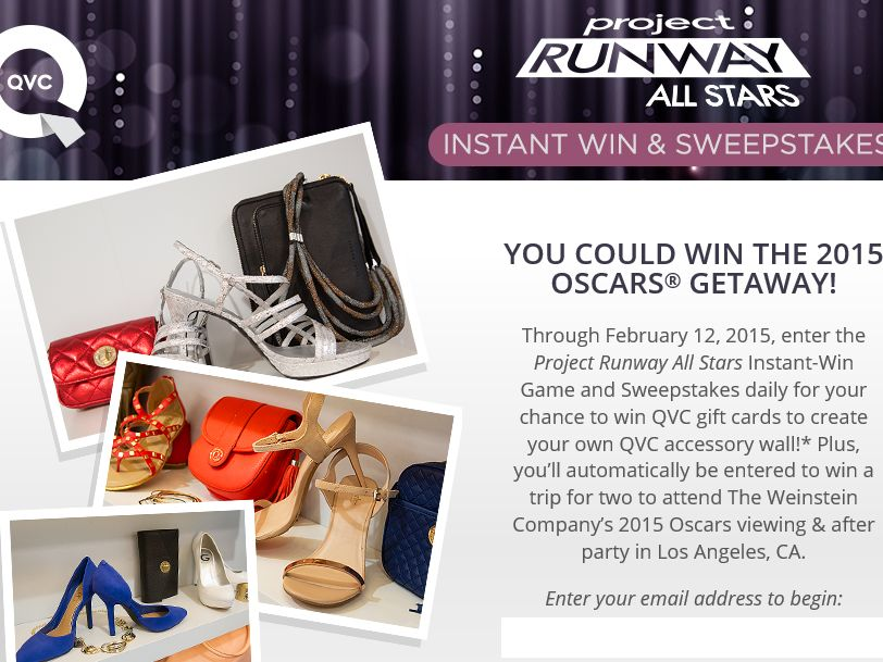 QVC Project Runway All Stars Instant Win Game and Sweepstakes