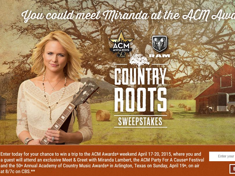 The Ram Trucks Country Roots Sweepstakes
