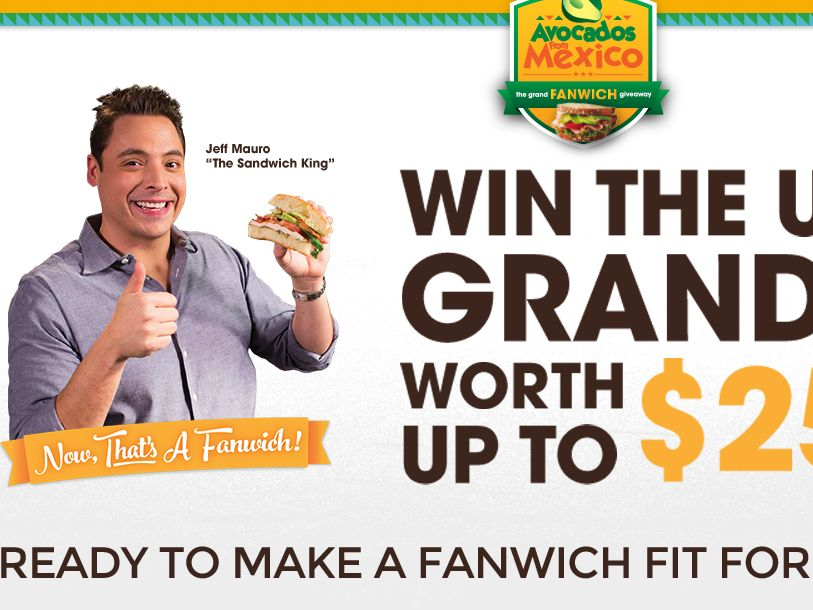 Avocados From Mexico Fanwich Sweepstakes