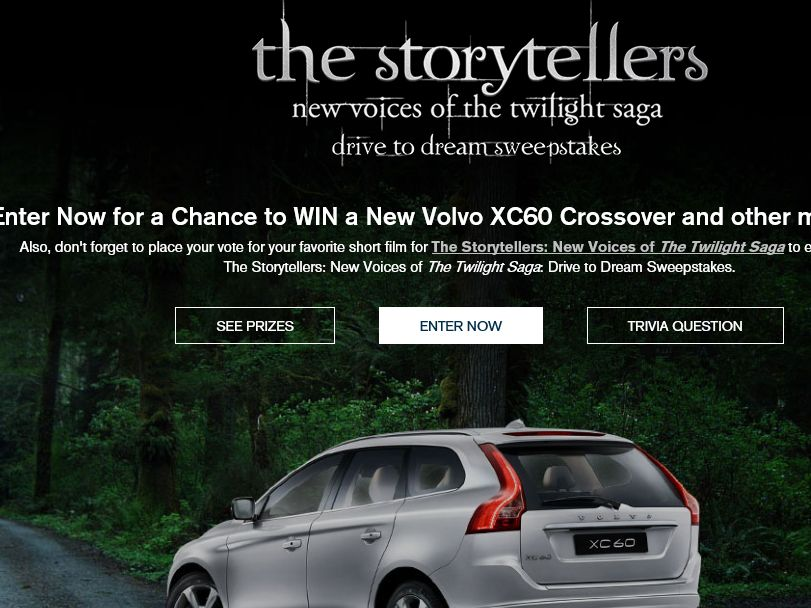 The New Voices of The Twilight Saga: Drive to Dream Sweepstakes