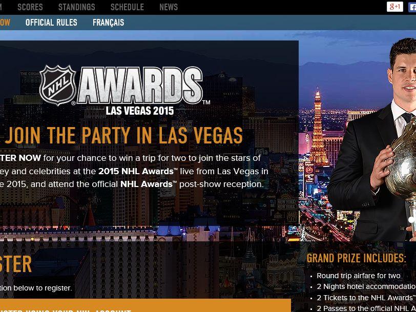 The 2015 NHL Awards Las Vegas Sweepstakes
