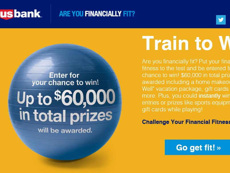 The U.S. Bank Are you Financially Fit Promotion