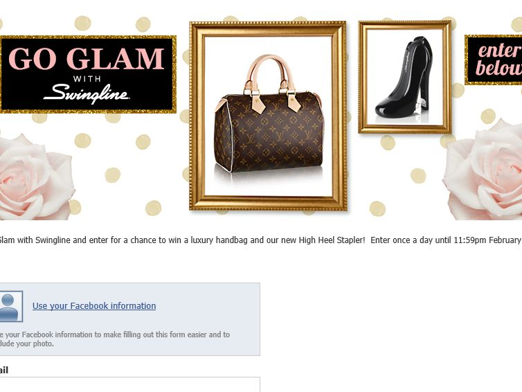 The Go Glam with Swingline Sweepstakes