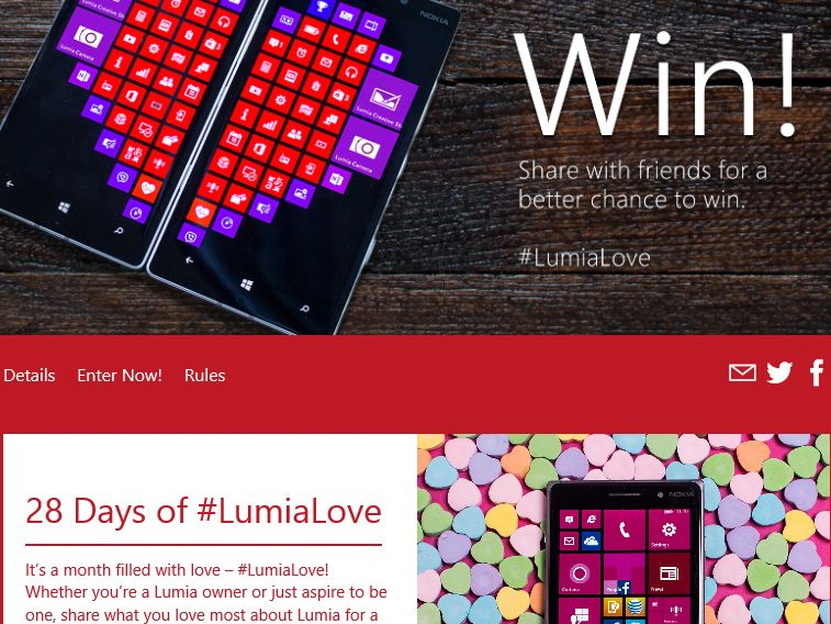 The 28 Days of #LumiaLove Sweepstakes