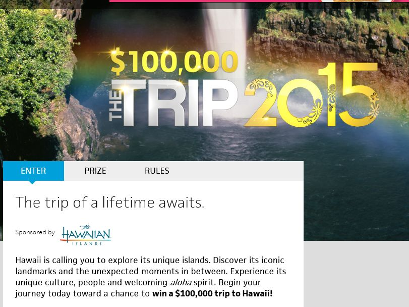 """Travel Channel's """"The Trip: 2015"""" Sweepstakes"""