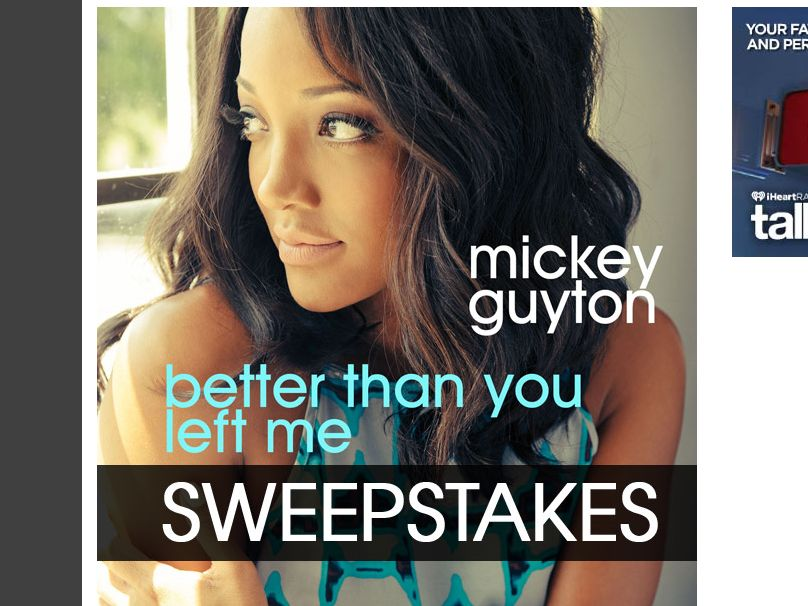 "The Mickey Guyton ""Better Than You Left Me"" Sweepstakes"
