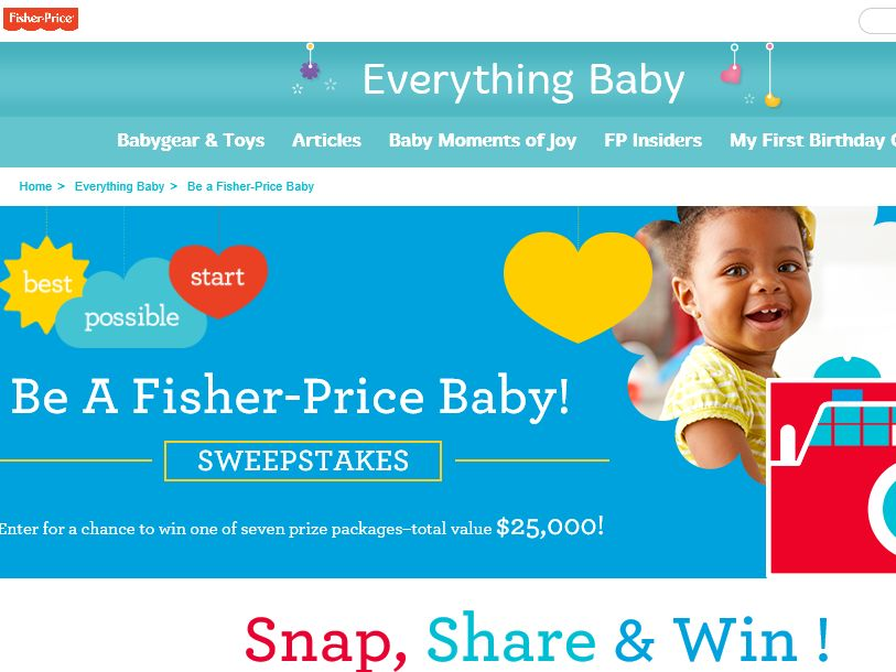 The Be a Fisher-Price Baby! Sweepstakes