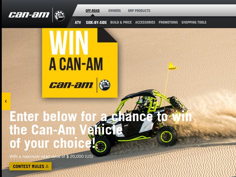 The Win a Can‐Am Off‐Road Vehicle Sweepstakes