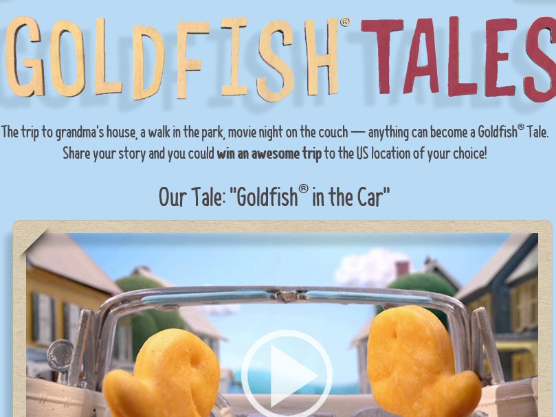 Share Your Goldfish Tales Sweepstakes