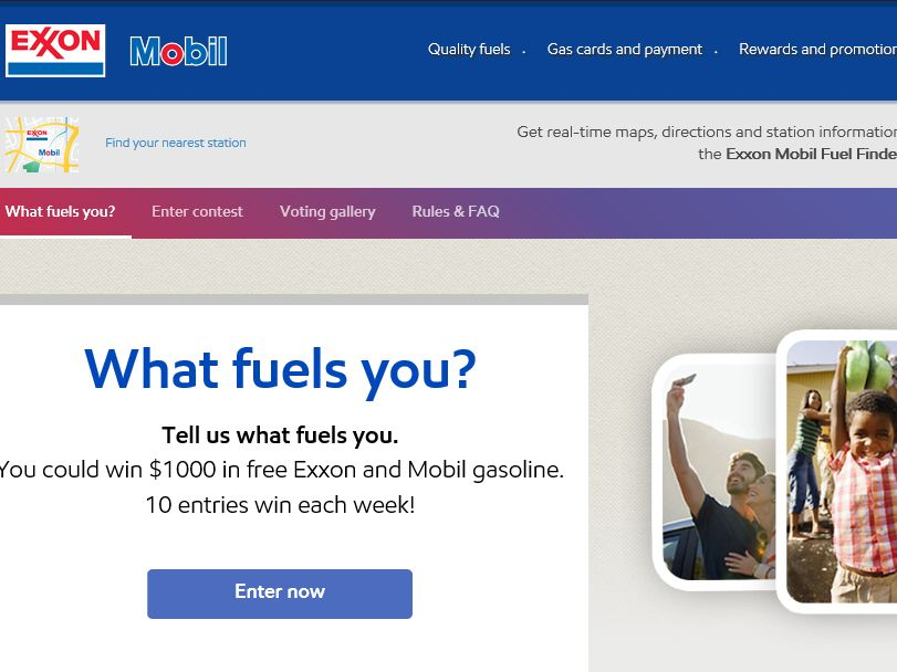 EXXON Mobil WHAT FUELS YOU Contest