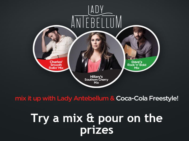 Coca-Cola Freestyle Lady Antebellum Instant Win and Sweepstakes