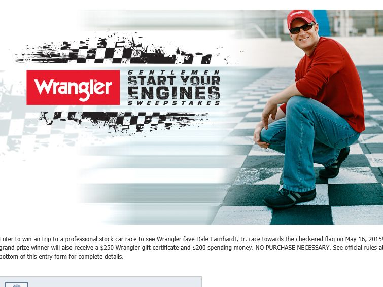 "Wrangler ""Gentlemen Start Your Engines"" Sweepstakes"