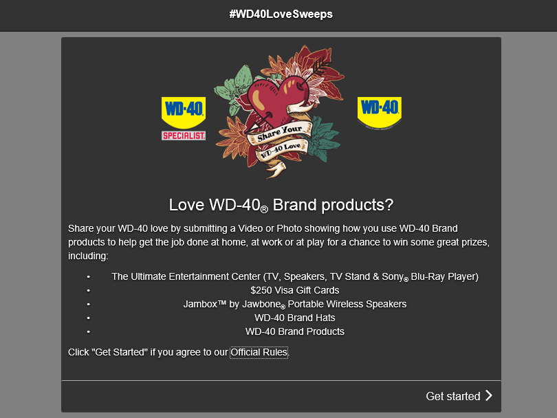 """Share Your WD-40 Love"" Sweepstakes"