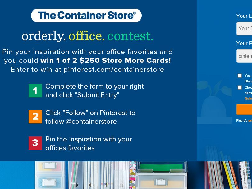 The Container Stores Orderly Office Pinterest Sweepstakes