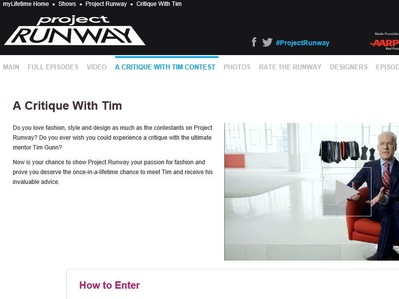 The Project Runway A Critique with Tim Contest