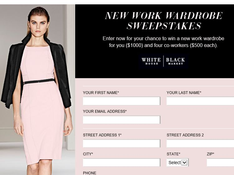 The InStyle New Work Wardrobe Sweepstakes