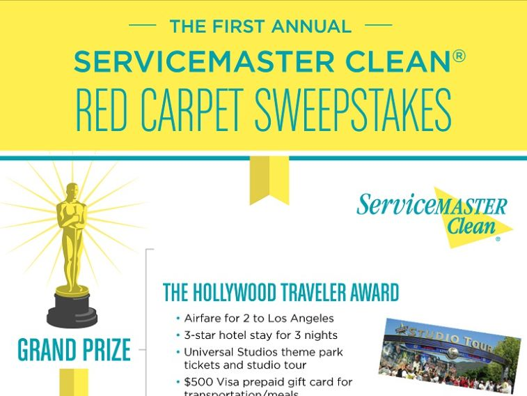 ServiceMaster Clean Red Carpet Sweepstakes