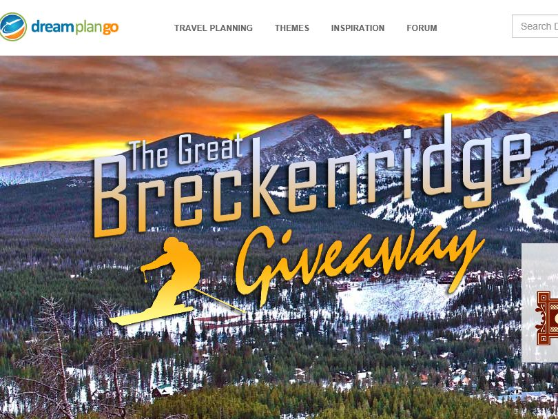 "The DreamPlanGo ""The Great Breckenridge Giveaway"" Sweepstakes"