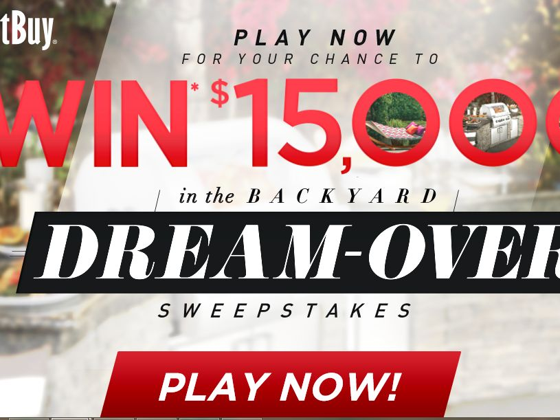 The $15,000 Backyard Dream-Over Sweepstakes