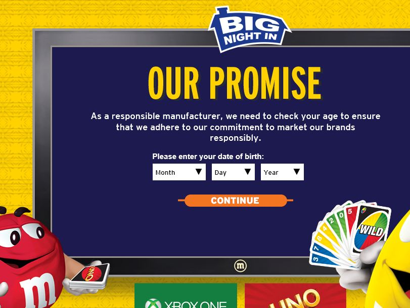 """Mars Chocolate This """"Big Night In"""" Game Sweepstakes"""