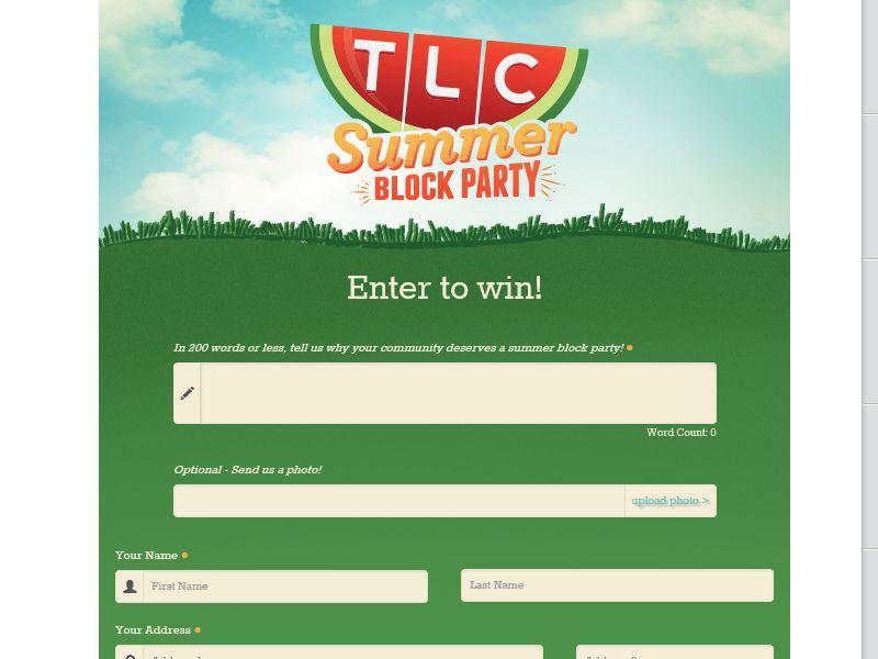 TLC's Summer Block Party Contest