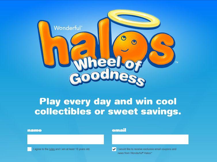 Wonderful Halos Wheel of Goodness Sweepstakes
