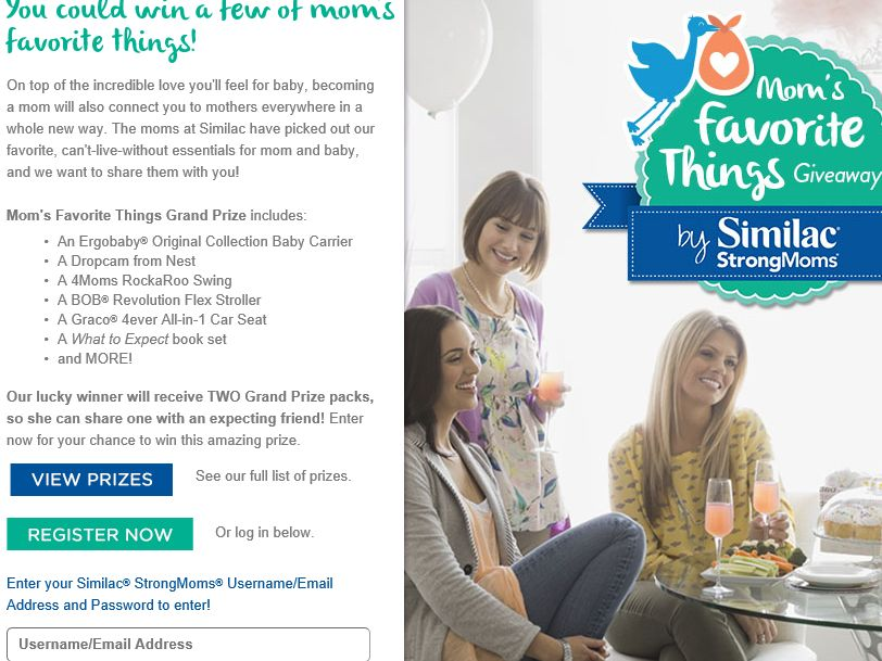 Similac Mom's Favorite Things Giveaway