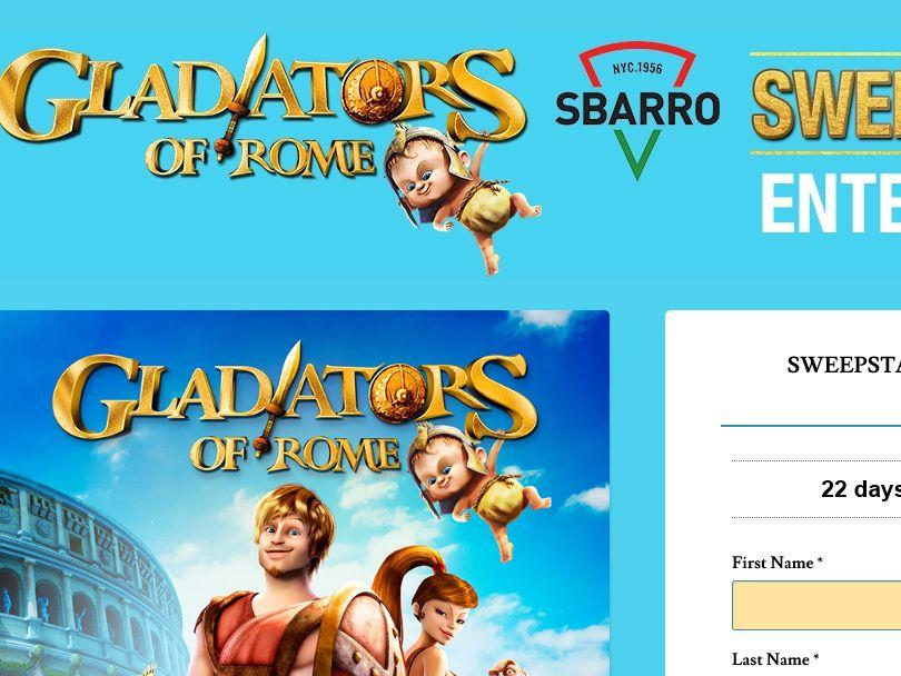 The Gladiators of Rome Sbarro Sweepstakes
