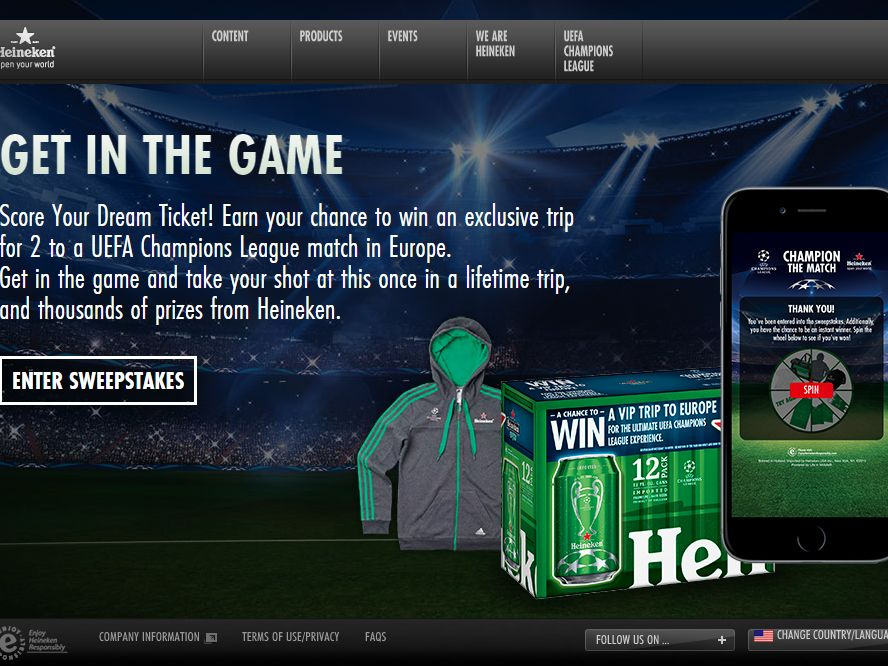 The Heineken Champion the Match Promotion