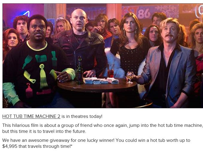The AMC HOT TUB TIME MACHINE 2 Giveaway
