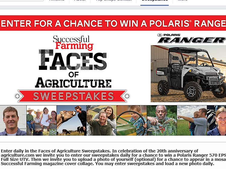 Successful Farming/Faces of Agriculture Sweepstakes