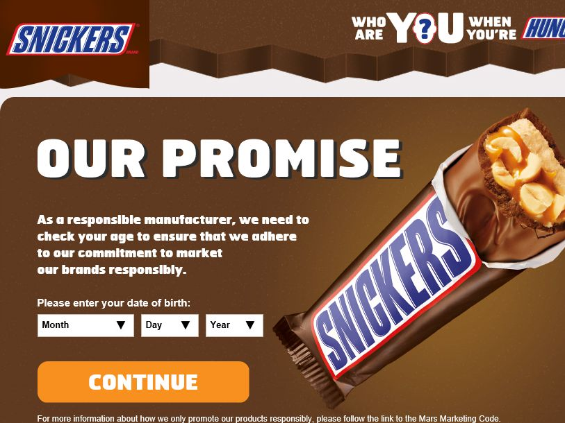 "The SNICKERS Brand ""Who Are You When You Are Hungry"" Contest"