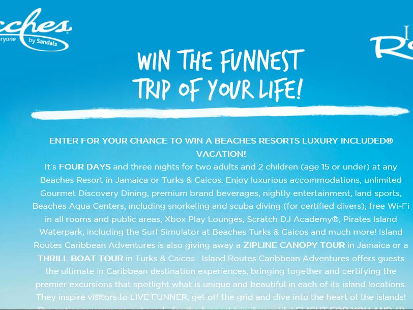 Neff Funnest Trip of Your Life Sweepstakes