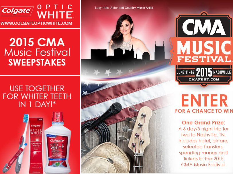 Colgate Optic White CMA Music Festival Sweepstakes