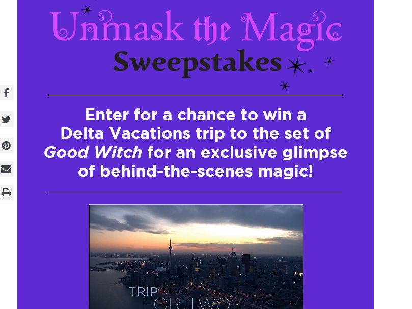 Hallmark Channel Unmask the Magic Sweepstakes