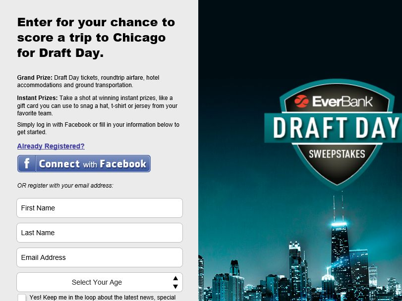 EverBank Draft Day Sweepstakes