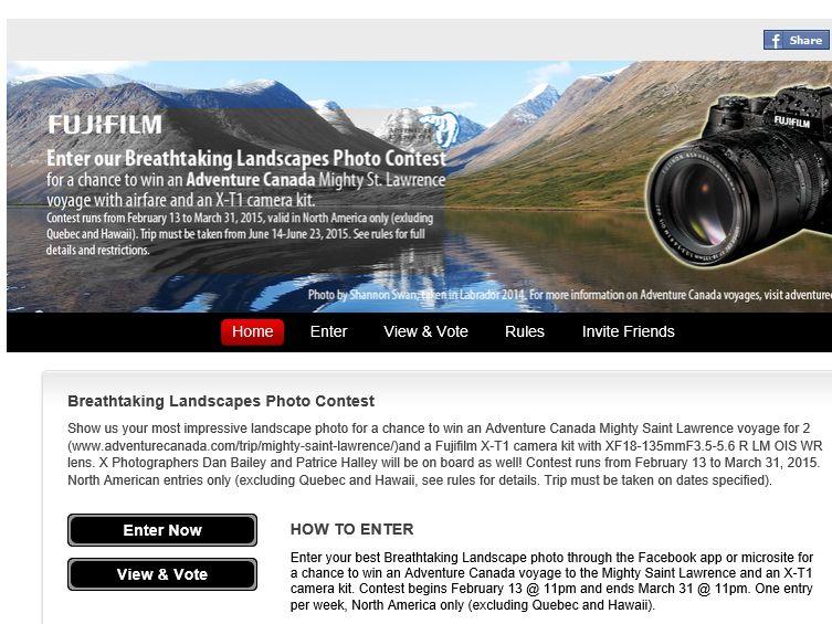 The FUJIFILM Breathtaking Landscapes Photo Contest