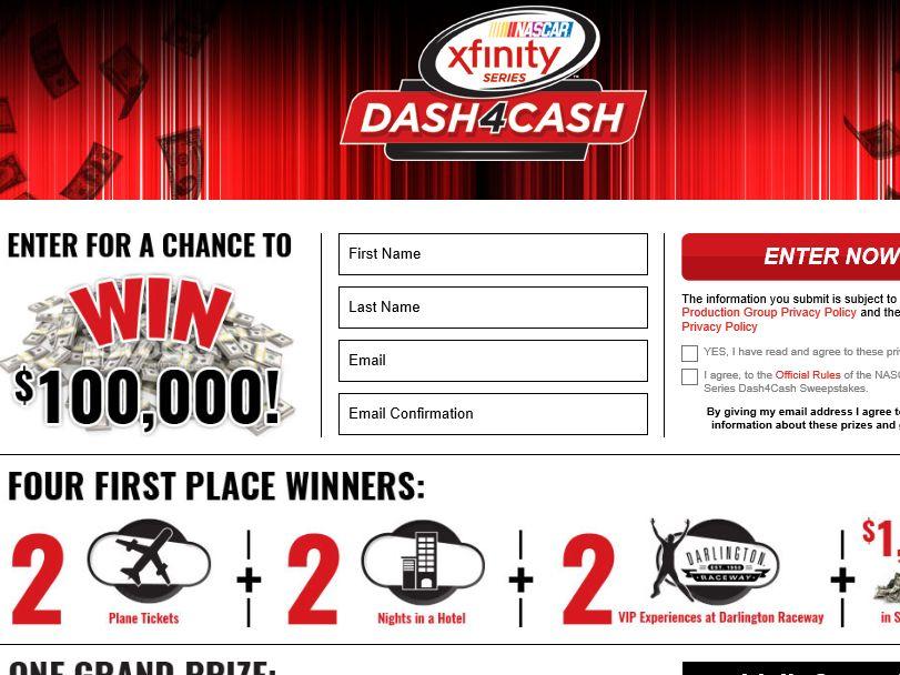 NASCAR XFINITY Series $100,000 Sweepstakes