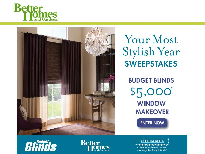 Better Homes And Gardens Your Most Stylish Year Sweepstakes