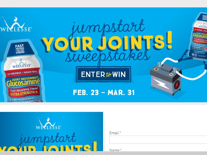 The Wellesse Jumpstart Your Joints Sweepstakes