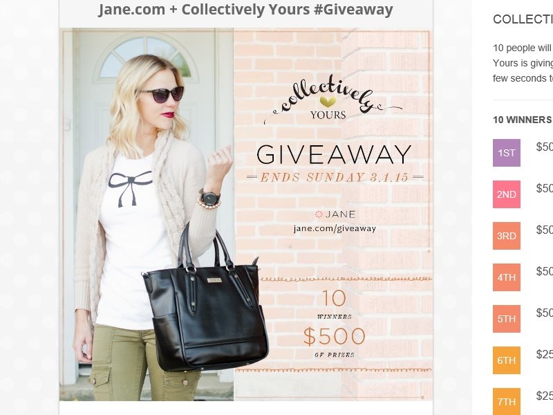 The Jane Giveaway Sweepstakes