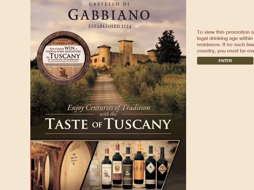 Gabbiano Taste of Tuscany Sweepstakes
