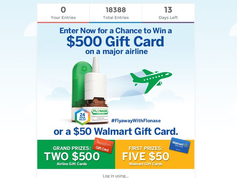 The Fly-Away With FLONASE Sweepstakes