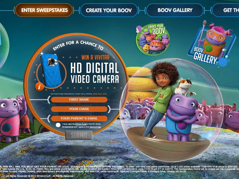 The Kid Cuisine Home Movie Sweepstakes