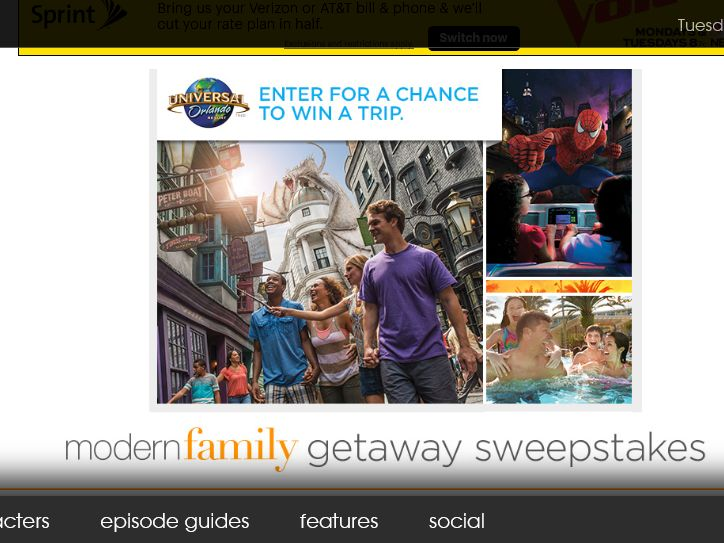 The Modern Family Getaway Sweepstakes