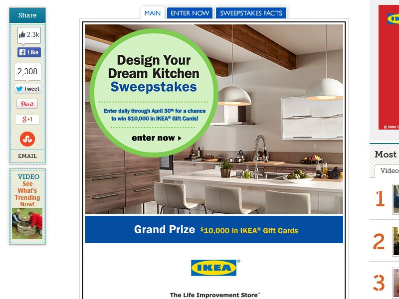 """The This Old House """"Design Your Dream Kitchen"""" Sweepstakes"""